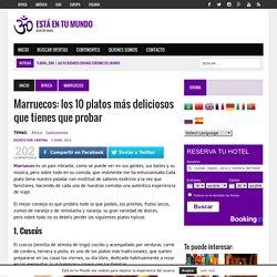Todos los platos que debes probar en Marruecos