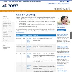TOEFL iBT Quick Prep