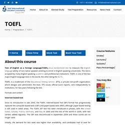 TOEFL - Ved International
