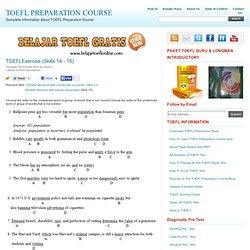TOEFLExercise (Skills 14 - 15)