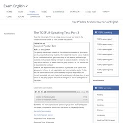 TOEFL® Speaking Test, part 3 - Campus Situation Topic