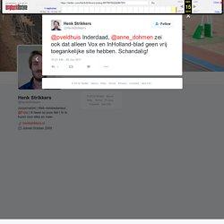 """Henk Strikkers on Twitter: """"@pveldhuis Inderdaad, @anne_dohmen zei ook dat alleen Vox en InHolland-blad geen vrij toegankelijke site hebben. Schandalig!"""""""