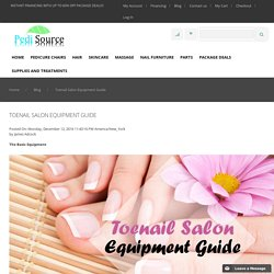 Toenail Salon Equipment Guide