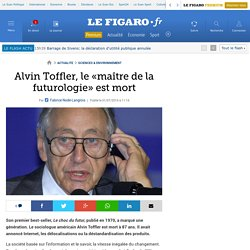 Alvin Toffler, le «maître de la futurologie» est mort