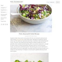 Tofu Amaranth Salad Recipe