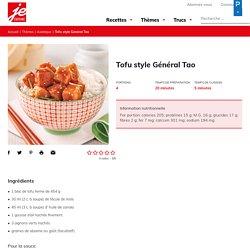 Tofu style Général Tao - Je Cuisine