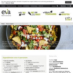 Mexicaanse tofuscramble · EVA maakt het plantaardig