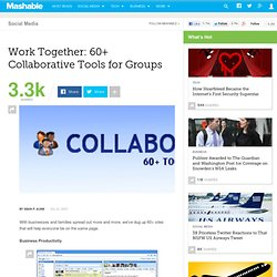 Work Together: 60+ Collaborative Tools for Groups