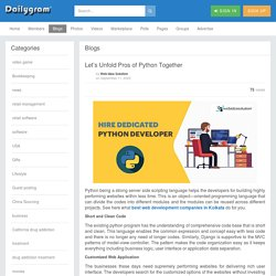 Let's Unfold Pros of Python Together » Dailygram ... The Business Network