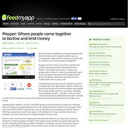 Where people come together to borrow and lend... - Finance, Lending, Money And Social Apps