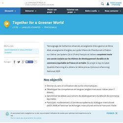 Together for a Greener World - eTwinning.fr-eco-gestion