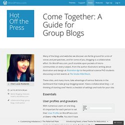 Come Together: A Guide for GroupBlogs