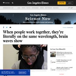 When people work together, they're literally on the same wavelength, brain waves show