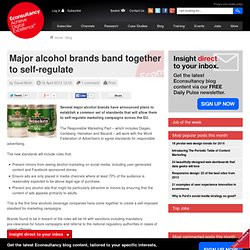 Major alcohol brands band together to self-regulate