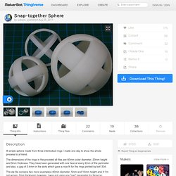 Snap-together Sphere by aubenc