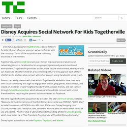 Disney Acquires Social Network For Kids Togetherville