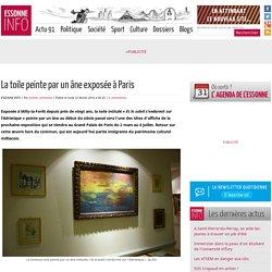 La toile peinte par un âne exposée à Paris
