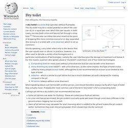 Dry toilet
