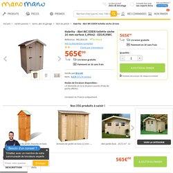 Habrita - Abri WC EDEN toilette sèche 16 mm surface 1,44m2 - ED1414WC - HABED1414-WC - Jardin piscine