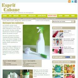 Nettoyer les toilettes, Esprit Cabane, idees creatives et ecologiques