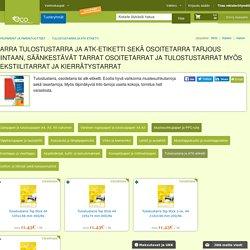 Tulostustarra ja ATK-etiketti Tarjous Hinnat alk. 2,19€ netistä Tulostustarra