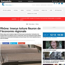 Rhône: Imerys toiture fleuron de l'économie régionale - France 3 Rhône-Alpes