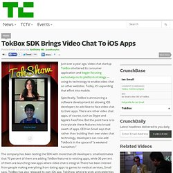 TokBox SDK Brings Video Chat To iOS Apps