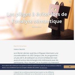 Tokenisation, lemmatisation, étiquetage morpho-syntaxique, etc. - Conférence SEO Campus Lille