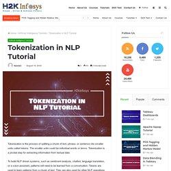Tokenization in NLP Tutorial - H2kinfosys Blog