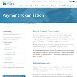 Payment Tokenization and PCI DSS Solutions - First Atlantic Commerce