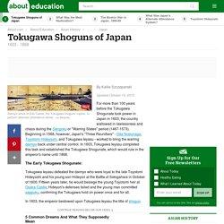 Tokugawa Shoguns of Japan (1603 - 1868)