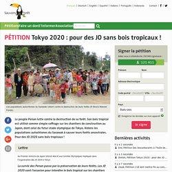 Tokyo 2020 : pour des JO sans bois tropicaux