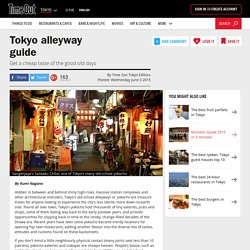 Tokyo alleyway guide