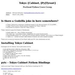Tokyo {Cabinet, [Py]Tyrant}