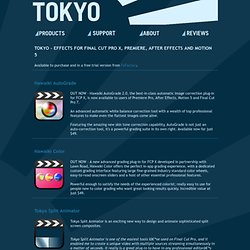 TOKYO - FCP X EFFECTS - PRODUCTS