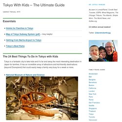 Tokyo With Kids – Where To Go and What To Do