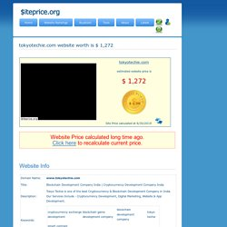 tokyotechie.com estimated website worth $ 1,272
