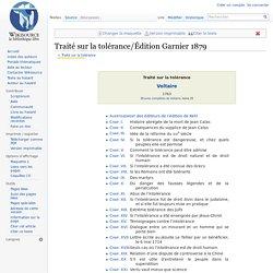 Traité sur la tolérance/Édition Garnier 1879