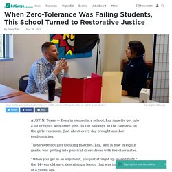When Zero-Tolerance Was Failing Students, This School Turned to Restorative Justice