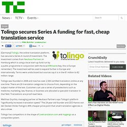 Tolingo secures Series A funding for fast, cheap translation service