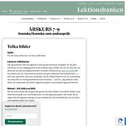 Tolka bilder - Lektionsbanken.se - Lärare inspirerar lärare