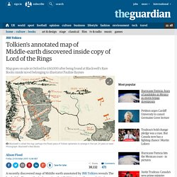 Tolkien's annotated map of Middle-earth discovered inside copy of Lord of the Rings