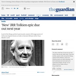 'New' JRR Tolkien epic due out next year