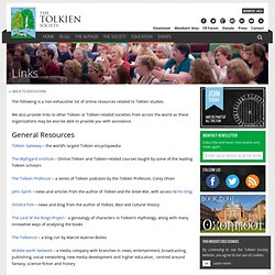 Tolkien Society Links Page