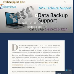 Toll Free Data Backup Support Online