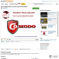 Toll Free (844)573-0859 for Comodo Support USA/CANADA