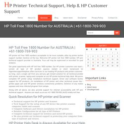 HP Toll Free 1800 Number for AUSTRALIA