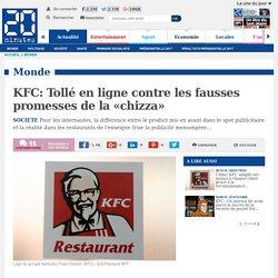 KFC: Tollé en ligne contre les fausses promesses de la «chizza»