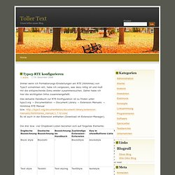 Toller Text » Blog Archive » Typo3-RTE konfigurieren