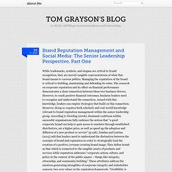 Tom Grayson's Blog